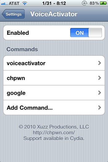 Voice Activator for iOS