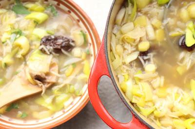 soupe poulet pruneaux poireaux