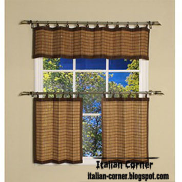 Italian Solid Curtain Valance For Kitchen Mate Design