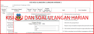 Kisi-kisi dan Soal Ulangan Harian Kelas 5 Tema 1, 2, 3, 4, 5 Kurikulum 2013