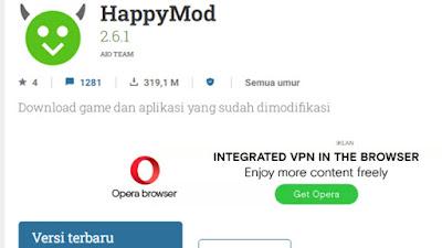 Cara Mendownload HappyMod di Google Uptodown