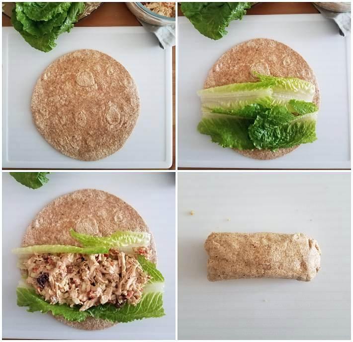 Cómo hacer los wraps con tortillas de harina de trigo integral