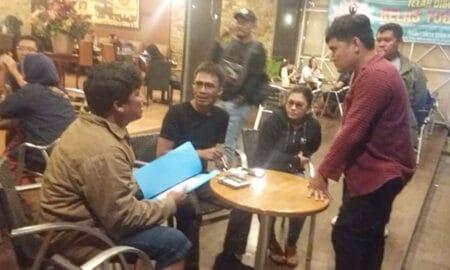 Penangkapan pengusaha asal Tobasa di Kafe Kok Tong Pematangsiantar.