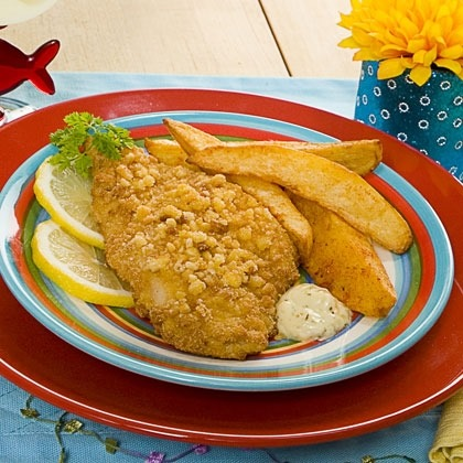 Oven Fried Fish & Chips Recipe