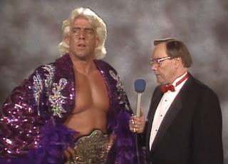 WCW / NWA Great American Bash 1989 -  Gordon Sollie speaks to Nature Boy Ric Flair