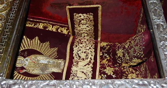 The silk slippers of Saint Spyridon, Corfu
