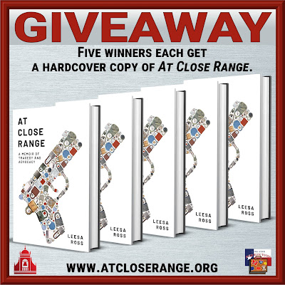 At Close Range tour giveaway graphic. Prizes to be awarded precede this image in the post text.