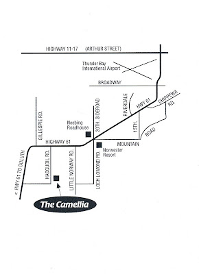 mmap of how to get to The Camellia Highway 61, Thunder Bay, Ontario
