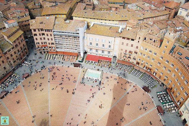 Plaza del Campo en Siena, Toscana