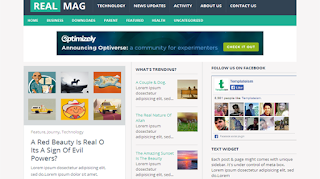 download RealMag Responsive Blogger Template