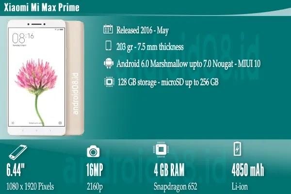 Spesifikasi Xiaomi Mi Max prime