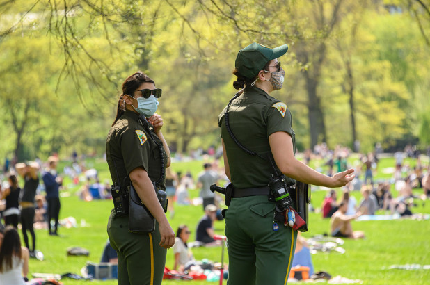 Dozens of summonses issued over social-distancing violations in New York City parks