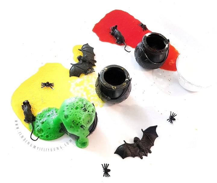 witches potions erupting with creepy crawlies