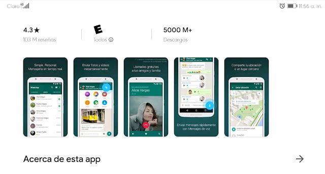 WhatsApp supera los 5.000 millones de descargas, un gran logro al no ser de Google