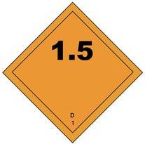 hazmat division 1.5 placard