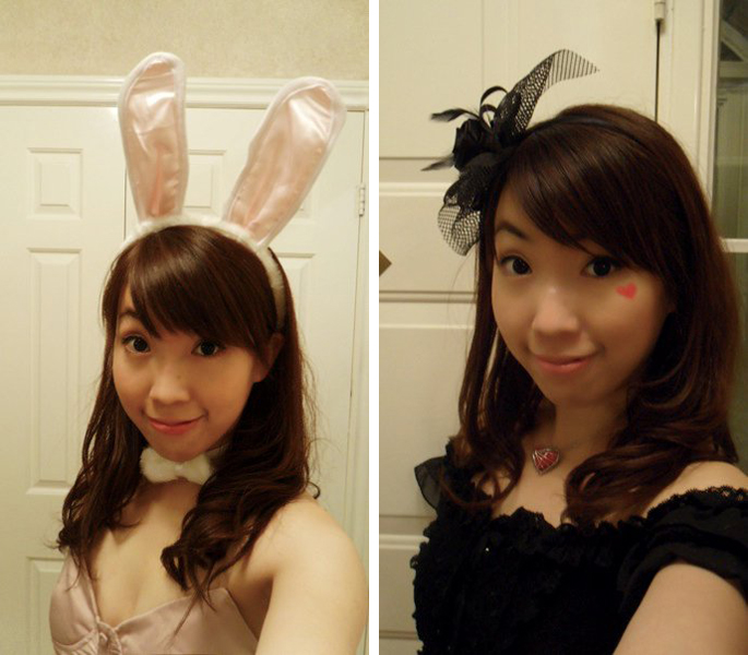 Playboy bunny v.s. the queen of hearts