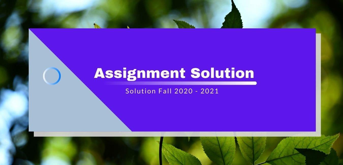 CS304 Assignment 3 Solution 2021