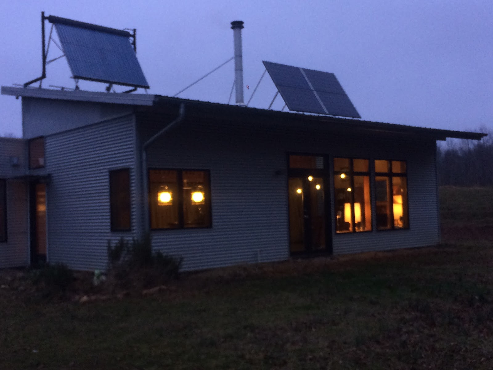 Back Off Grid In A Modern Prefab House With Mid Century