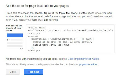How To Integrate Adsense Page Level Ads in Blogger Blogs