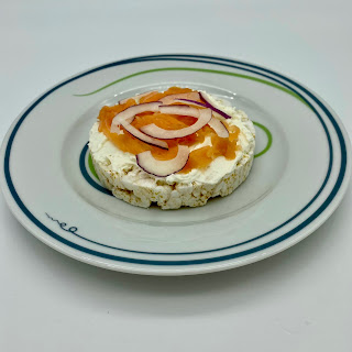 Cream Cheese and Smoked Salmon with Red Onion Served Up on Vivente