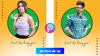 3D Portrait DP Editing, PicsArt Tutorial, Background png download,