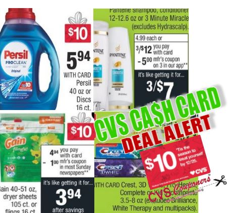 cvs couponers cash card deal
