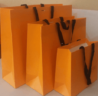 turuncu karton çanta