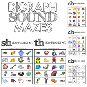 DIGRAPH SOUND MAZES - /CH/SH/TH/ | you clever monkey