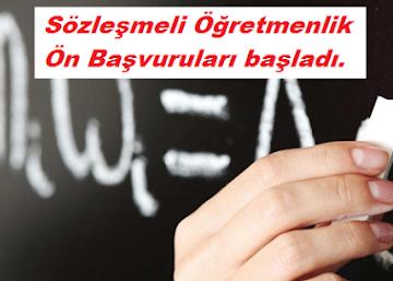 Sözleşmeli öğretmenlik Ön Başvuruları Başladı