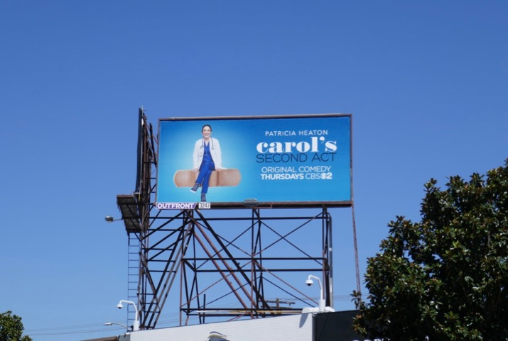 Carols Second Act TV billboard