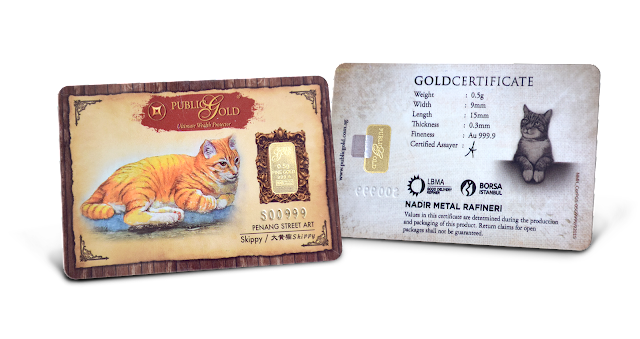 Gold Bar 0.5 g Edisi Skippy (Penang Street Art)