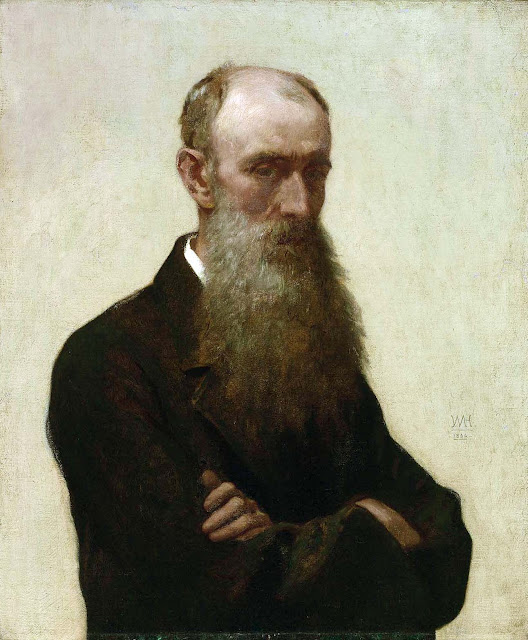 William Morris Hunt, Self Portrait, Portraits of Painters, William Morris, Fine arts, portraits of painters blog, Paintings of William Morris Hun, Painter William Morris Hunt, Morris Hunt