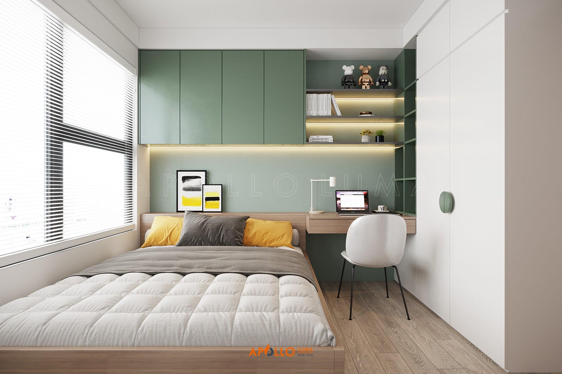 Thiết kế nội thất căn 2PN+2WC (65m2) S2.09-05 Vinhomes Ocean Park Gia Lâm