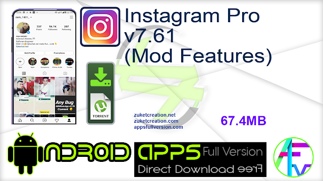 Instagram Pro v7.61 (Mod Features)