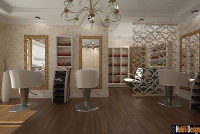 Amenajare interioara salon de infrumusetare | Design interior coafor stil clasic Bucuresti