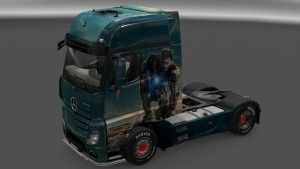 Superheroes Skin Pack for Mercedes Actros 2014