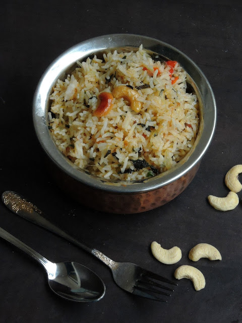 Andhra Style Pudhina Rice, Mint Rice