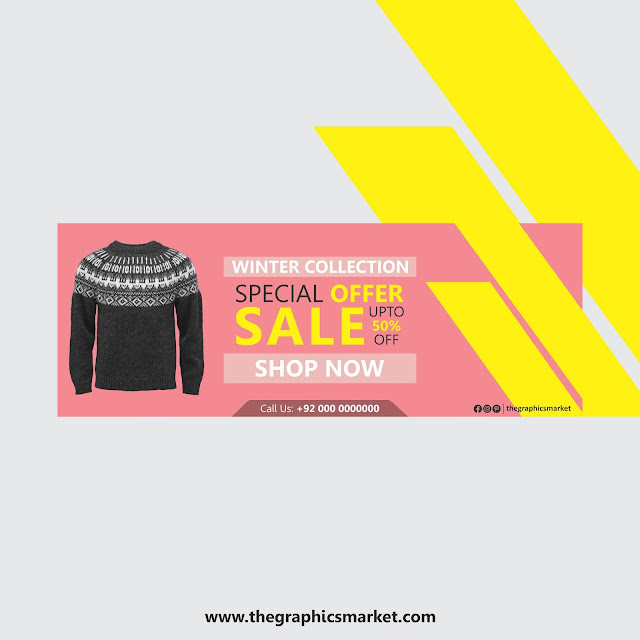 winter sale banner free download