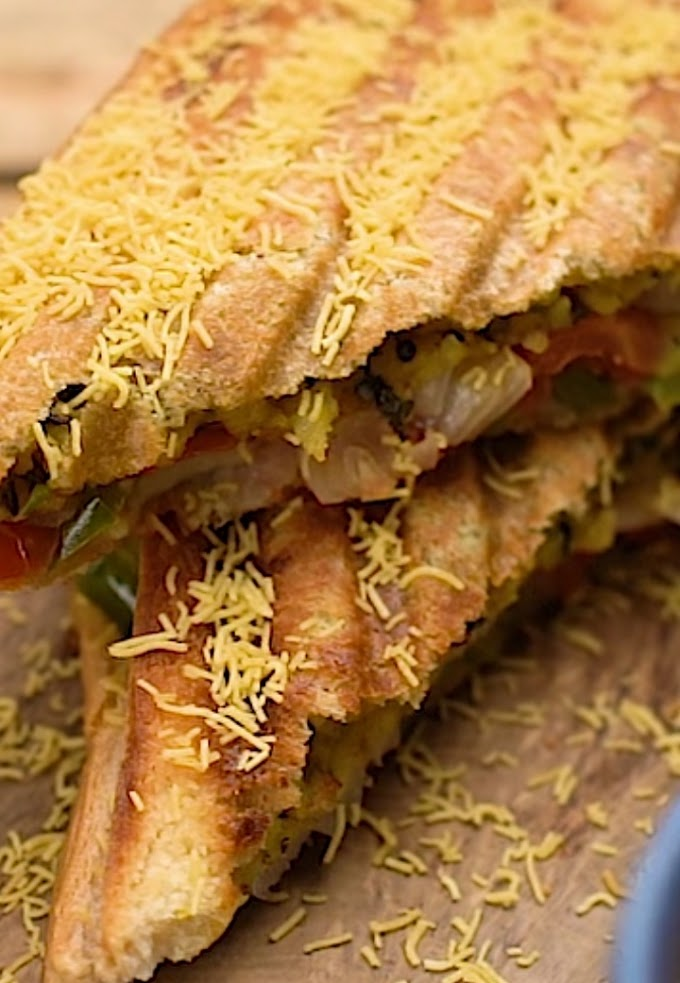 Mumbai Masala Toast Sandwich for a perfect rainy