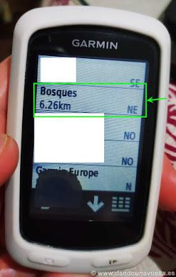 Ubicaciones GPS Garmin Edge 810