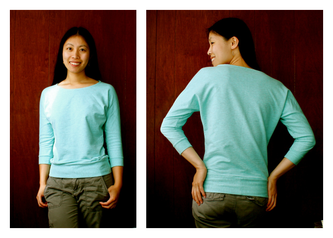 Cation Designs Free Sewing Pattern Dolman Sleeve Top