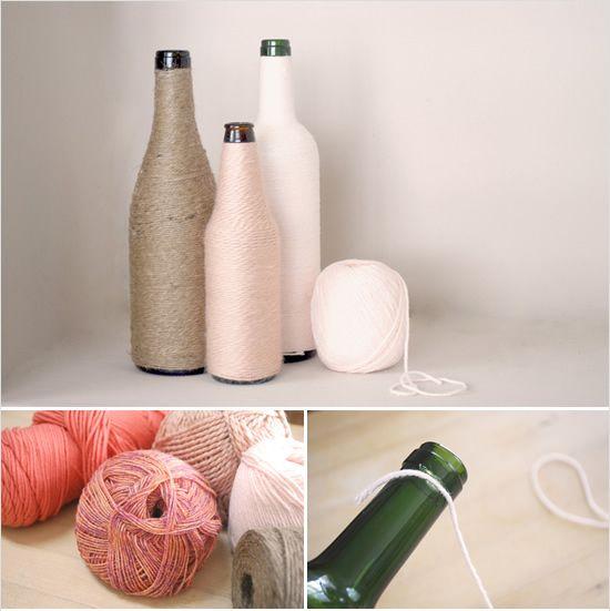garrafa decorada, enfeite Natal, enfeite, a casa eh sua, acasaehsua, upcycling, reciclagem, faça você mesmo, diy,
