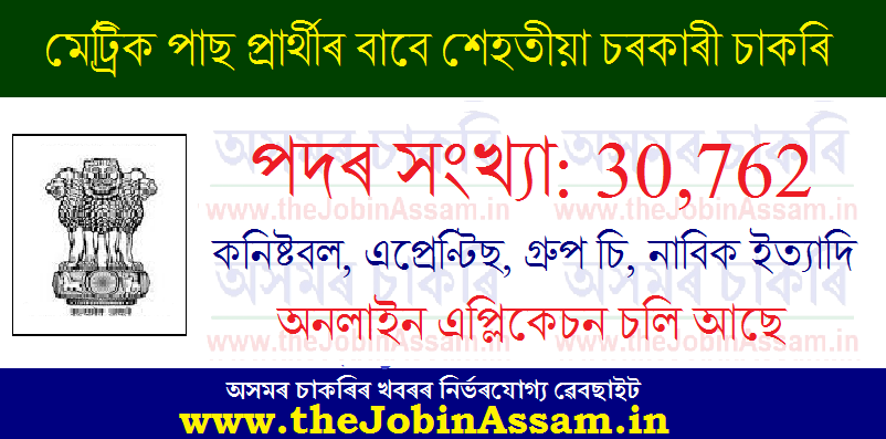 Assam Career 2021 for 10th Pass Candidates