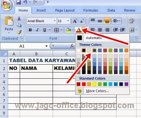 cara edit excel