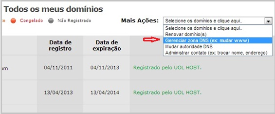 Configurar domínio uol  Host 3