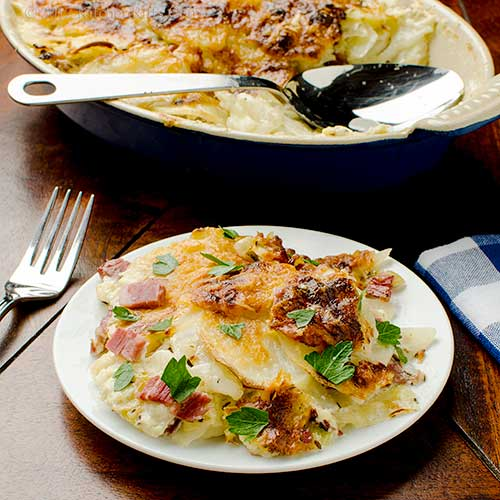 Corned Beef, Cabbage, and Potato Gratin