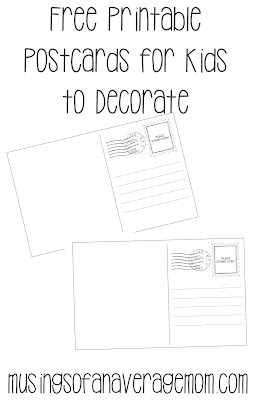 free printable postcards for kids