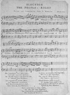 "Sheet music for ""Election: The Peiople's Right,"" John J. Hawkins, 1801"