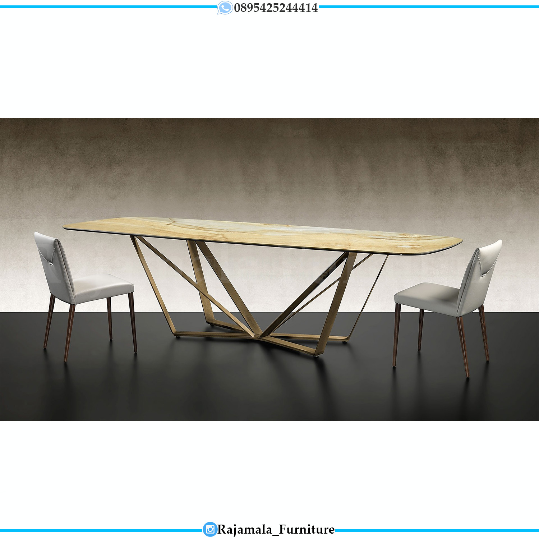 Meja Makan Minimalis Terbaru Stainless Steel Modern Model RM-0309