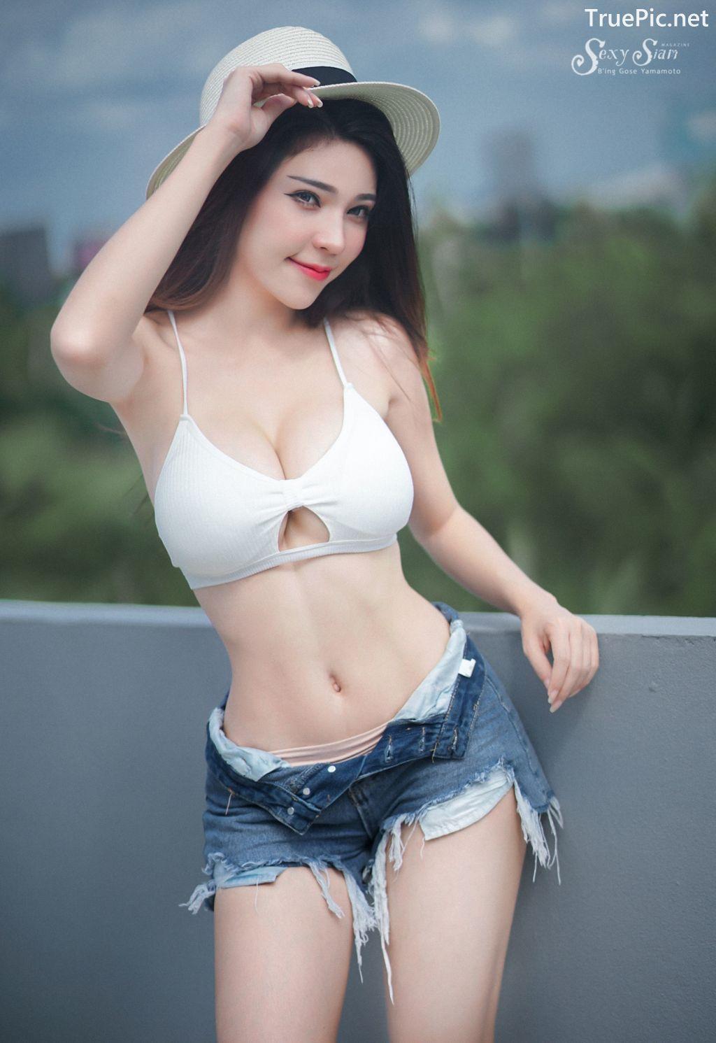 Image-Thailand Sexy Model-Janet-Kanokwan-Saesim-White-Bra-And-Jean-TruePic.net- Picture-5